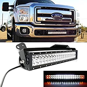wiring harness for kc lights automotive parts online com ijdmtoy 20″ 120w white led light bar w amber led strobe lower bumper grill mounting bracket for 2011 2016 ford f 250 f 350 super duty dual switch wiring