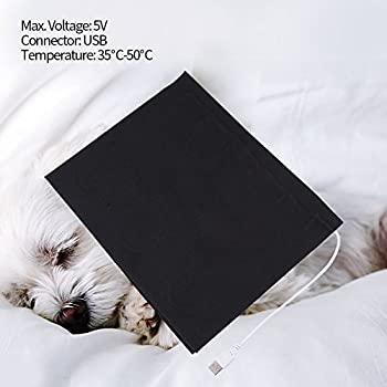 USB Electric Cloth Heater Pad,1PC,5V,Washable Carbon Fiber Heating Element,Super Large for Clothes Seat Pet Warmer 35℃-50℃