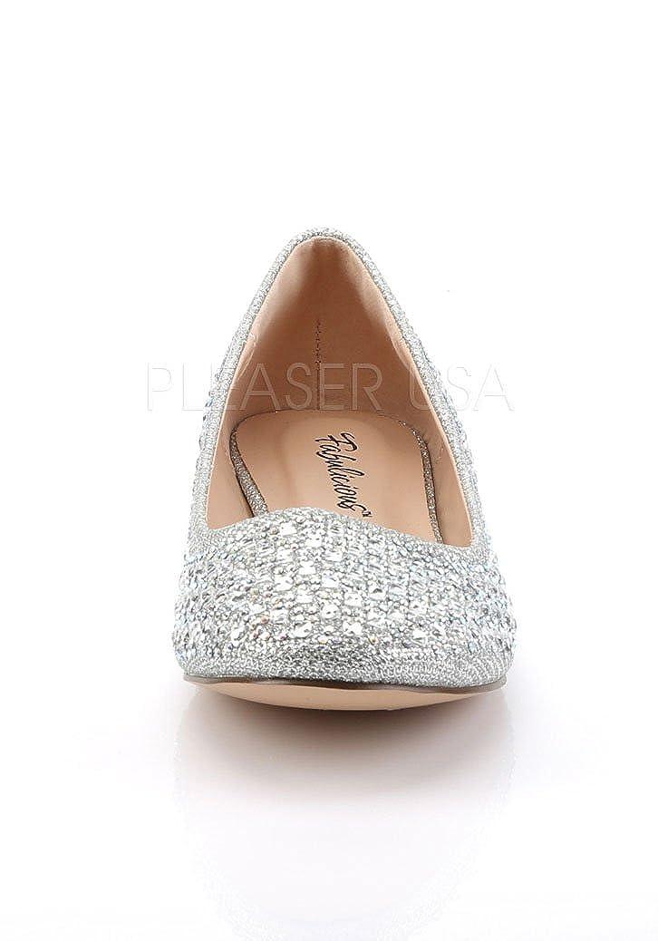 Pleaser Damen Treat Glitter 06 Ballerinas Slv Glitter Treat Mesh Fabric 5ec476
