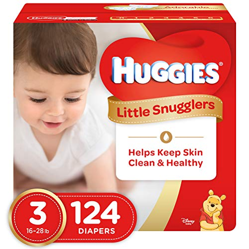 Huggies Little Snugglers Baby Diapers, Size 3, 124 Count, GIANT PACK  (Packaging May Vary)
