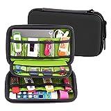 Elvam EVA Shockproof Waterproof Portable Hard Drive Case Bag / Cable Case Bag / USB Flash Drive Case Bag / Power Bank Case Bag / Game Console Case Bag / GPS Case and Digital Camera Case - Black