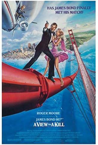 6 x 4 inches 1art1 James Bond 007 Postcard A View to A Kill