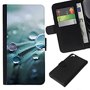 Planetar® Modelo colorido cuero carpeta tirón caso cubierta piel Holster Funda protección Para HTC Desire 820 ( Drop Nature Spring Fresh Pearl )