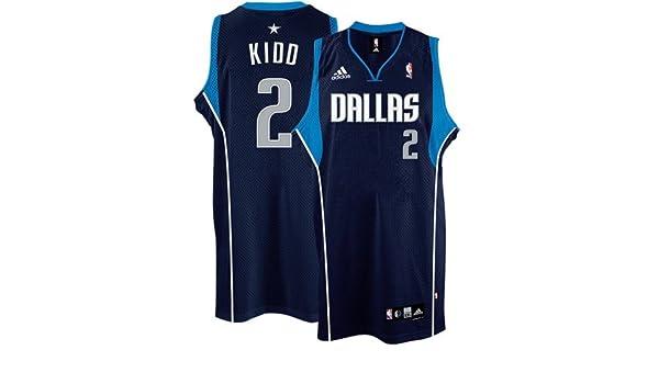 c9d18e0eeba6 ... Amazon.com adidas Dallas Mavericks 2 Jason Kidd Navy Blue Swingman  Basketball Jersey (X ...