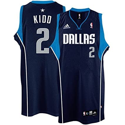new product 44ecd 57f1e Amazon.com : adidas Dallas Mavericks #2 Jason Kidd Navy Blue ...