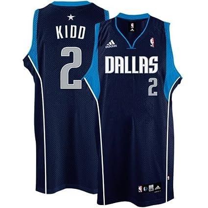 new product da365 d0dbc Amazon.com : adidas Dallas Mavericks #2 Jason Kidd Navy Blue ...