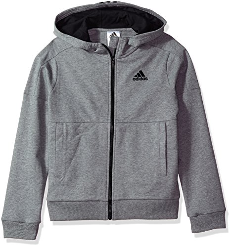 adidas Boys' Big Athletics Jacket, Charcoal Grey Heather, S (8/10)