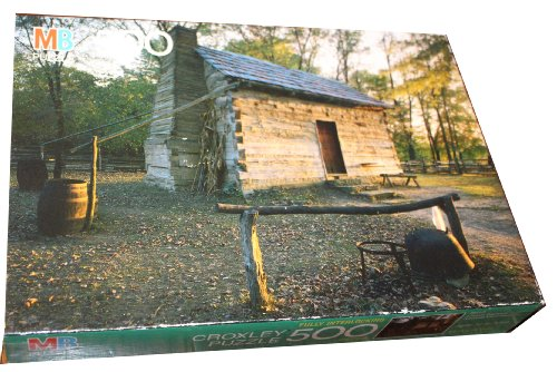 Milton Bradley Croxley 500 Piece Puzzle - Lincoln Boyhood National Monument, Lincoln City, Indiana Puzzle is dated 1991 so image is at least that - Images City Of Lincoln
