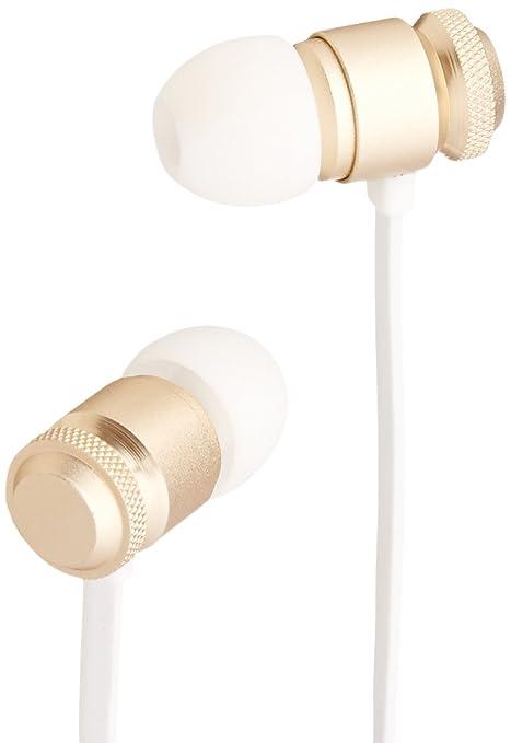 9 opinioni per AmazonBasics- Auricolari con cavo piatto e microfono universale (oro)