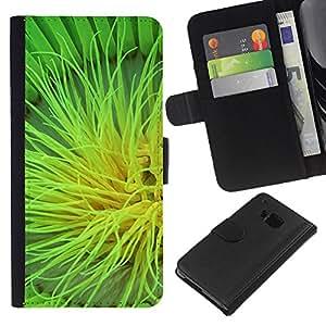 All Phone Most Case / Oferta Especial Cáscara Funda de cuero Monedero Cubierta de proteccion Caso / Wallet Case for HTC One M9 // Plant Nature Forrest Flower 105
