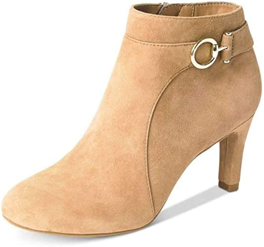 Bandolino Womens Belluna Almond Toe Ankle Fashion Boots