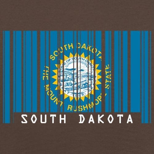 South Dakota / Süd-Dakota Barcode Flagge - Herren T-Shirt - Schokobraun - XS