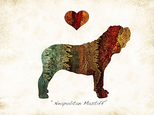 Neapolitan Mastiff Dog Breed Watercolor Art Print by Dan (Neapolitan Memories)