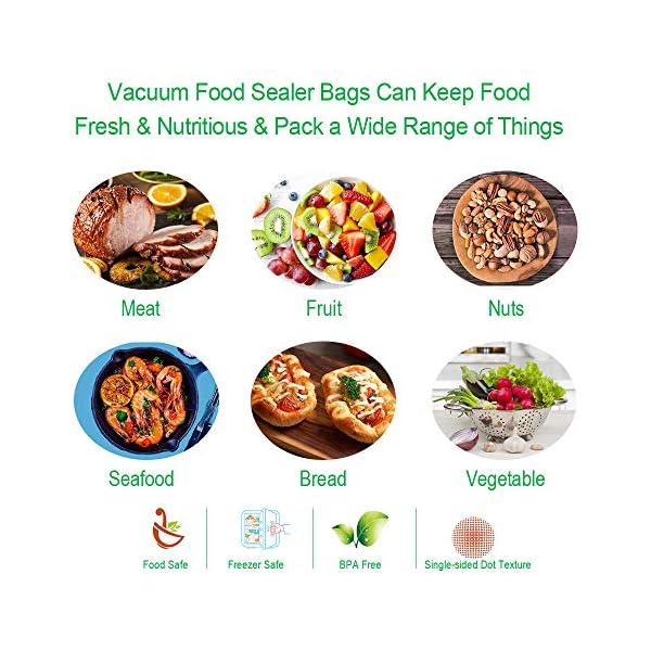 BoxLegend Sacchetti Sottovuoto Alimenti, 100 sacchetti 20x30 cm per la Conservazione Degli Alimenti e Cottura Sottovuoto… 6