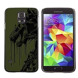 TECHCASE**Cubierta de la caja de protección la piel dura para el ** Samsung Galaxy S5 SM-G900 ** Abstract Dragon