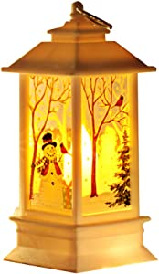 UTUT Christmas Hanging Lamp Santa Snowman Elk LED Lamp Night Light Desktop Xmas Tree Hanging Decor White Snowman