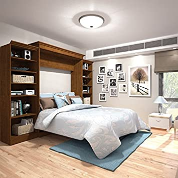 Amazon.com: 115 in. Queen Wall Bed with Storage Unit in Tuscany ...