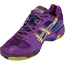 Asics Womens Gel-Blast 5 Indoor Court Shoes Grape/Sunny Lime/Clematis (9.5)