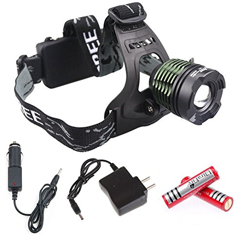 Waterproof 1600 Lumens CREE XM-L T6 3 Modes Adjustable Headlamp - 5