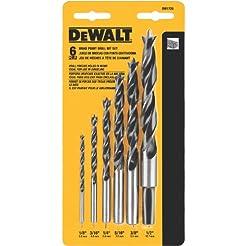 DEWALT DW1720 Brad Point Bit Set, 6-Piec...