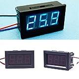 DC 0-30V LED 3-Digital Display Voltage Voltmeter Panel Motorcycle #01 Blue LED