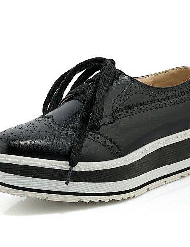 ZQ 2016 Zapatos de mujer - Plataforma - Plataforma / Creepers - Oxfords - Exterior / Vestido / Casual - Semicuero - Negro / Amarillo / Plata , silver-us8 / eu39 / uk6 / cn39 , silver-us8 / eu39 / uk6 yellow-us5 / eu35 / uk3 / cn34