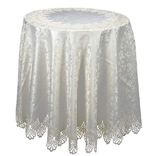 HSE 80 Inch European Style European Style Pierced Tablecloth Round Tablecloth As Halloween, Christmas Gift-(200cm) ()