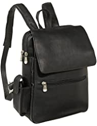 Le Donne Leather Ladies Tech Friendly Backpack (Black)