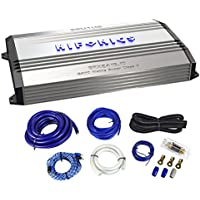 Package: Hifonics Brutus BRX2416.1D 2400 Watt RMS Class D Mono Block Car Amplifier With Bass Remote + Rockville RWK01 0 Gauge 2 Channel Complete Car Amplifier Installation Kit With A Set of RCA Cables