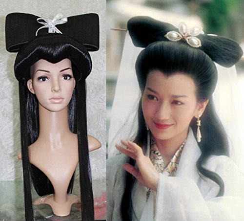 Custom costume Bai Legend of White Snake White Snake White Snake hair wig caps play headgear -