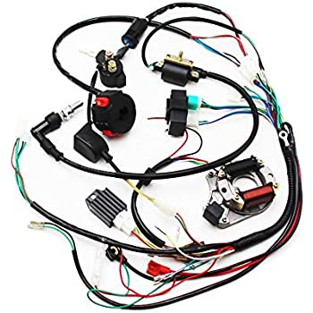 Amazon Com Full Electrics Wiring Harness Cdi Coil Magneto Stator