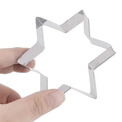 Amazon.com: Forma eDealMax metal Inicio de la estrella de chocolate para hornear galleta de la torta hecha a mano molde del cortador DIY 4 en 1: Kitchen & ...