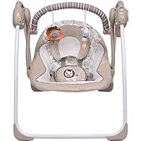 VASTFAFA Elektrische Babyschaukel Babywippe mit Moskitonetze