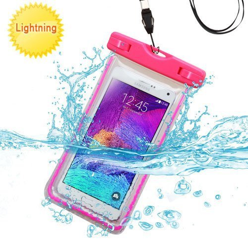 half off 61502 a9a9b Samsung Galaxy J3 Case, Galaxy J3 Case by iViva Lightning Waterproof dirt  proof snow proof for boating kayaking swimming hiking (Waterproof Hot Pink)
