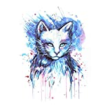 Animal Temporary Tattoos for Adults Cool Female Portrait Owl Lion Fox Waterproof Fashion RemovableTattoo Sticker Great for Party Favors and Decorations Women Men Kids Individual Styles Available (B)