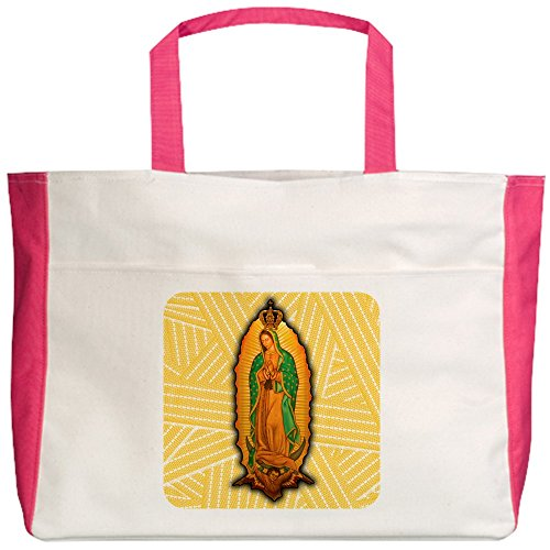 Royal Lion Beach Tote (2-Sided) Virgen de Guadalupe - Fuchsia by Royal Lion