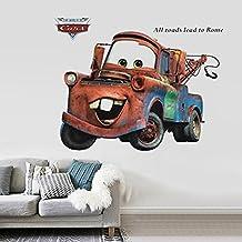 3D Wall Decal Children Themed Art Wall Sticker Home Decor Art Kids - Car Tow Truck