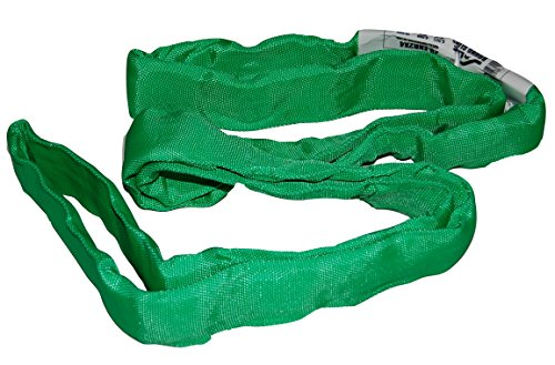 - S-Line 20-ENR2X8 Lifting Sling, 2-Inch by 8-Foot, Endless Round Sling, Green