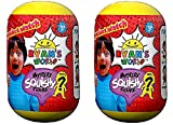 Ryan's World Pocket Watch Mystery Squishy Figure - Multipack of 2