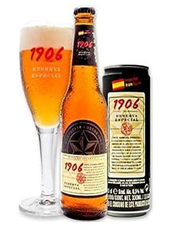 ESTRELLA GALICIA 1906 Pack 5 cerveza rubia Reserva Especial + 3 Red Vintage  La Colorada estuche