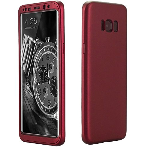 Price comparison product image Galaxy S8 Plus Case,ATOOZ 360 Degree All-around Full Body Slim Fit Lightweight Soft Protective Skin Case Cover for Samsung Galaxy S8 Plus 6.2 Inch (Red)