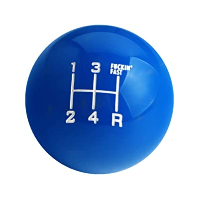 DEWHEL Fing Fast Shift Knob 5 Speed Short Throw Shifter M12x1.25 M10x1.5 M10x1.25 M8x1.25 (Blue): Automotive