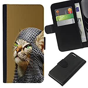 Stuss Case / Funda Carcasa PU de Cuero - American Shorthair Knight Cat - Apple Iphone 5C