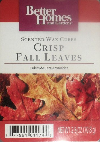 1 X Better Homes and Gardens Crisp Fall Leaves Wax Cubes by Scentsationals B017RR6Q2E Wachs