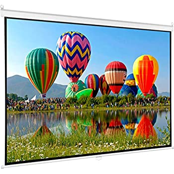 VIVO 80 inch Projector Screen, Diagonal 16:9 Projection HD Manual Pull Down Matte White Home Theater VIVO (PS-M-080)