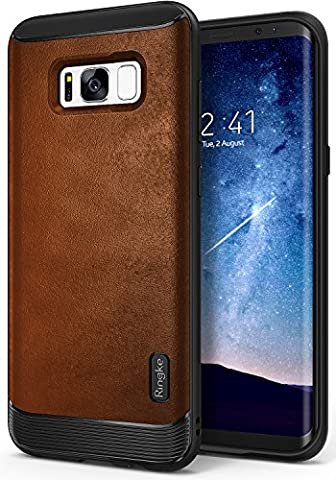 Galaxy S8 Plus Case, Ringke [Flex S Series] Elite Coated Textured Modern Leather-Style Streamlined Anti-Fingerprint Advanced Shockproof Sophisticated Rustic Case for Samsung Galaxy S8 Plus - (Wireless Mouse Orchid)