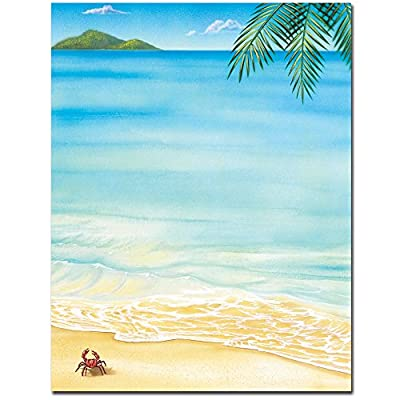 Tropical Beach Summer Laser & Inkjet Computer Printer Paper