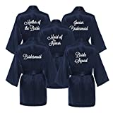 Set of 5 Bridesmaid Robes - NAVY