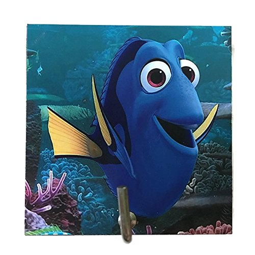 Agility Bathroom Wall Hanger Hat Bag Key Adhesive Wood Hook Vintage Blue Dory Fish's Photo (Adult Simple Halloween Costumes)