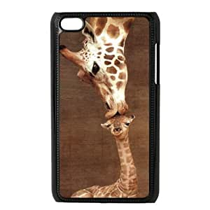 Giraffe Animal Durable Snap On Hard Shell PC Cover Case for Ipod Touch 4, 4th Generation